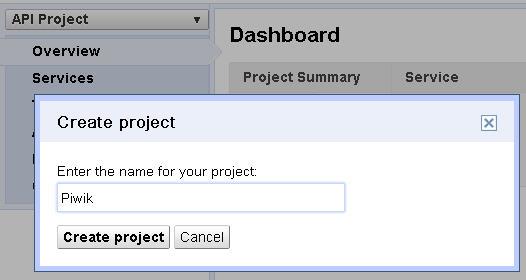 new-project-google-api